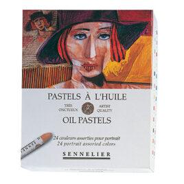 Sennelier Oil Pastel Set of 24 Portrait Colour Range