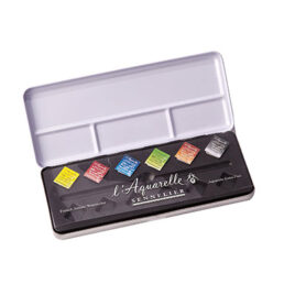 Sennelier Watercolour Metal Box Set of 6 Half Pans