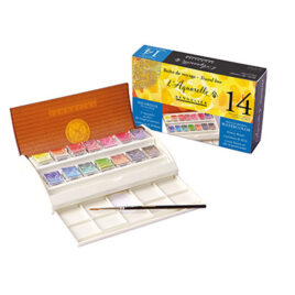Sennelier Watercolour Field Travel Box of 14 Half Pans