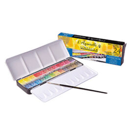 Sennelier Watercolour Set of 24 Half Pans