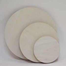 Wooden Painting Panels Circles