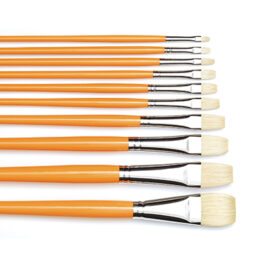 #6087 Traditional French Oil Bristle - Long Handle