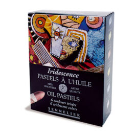 Iridescent oil pastels set 6